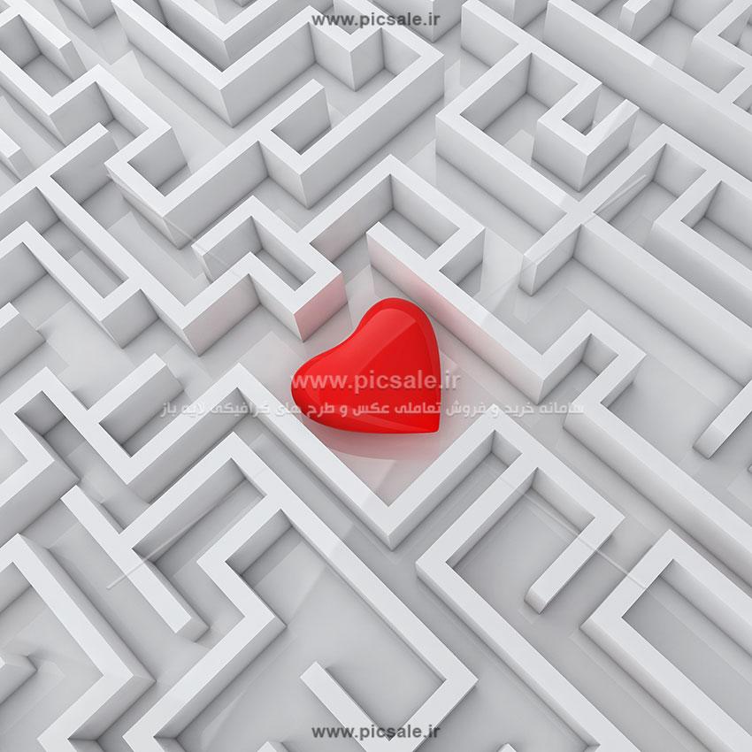 001072 - قلب قرمز عاشقانه