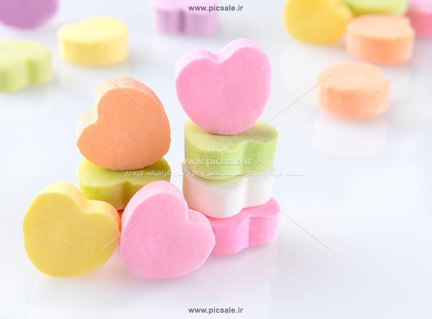 001095 - قلب های رنگارنگ عاشقانه
