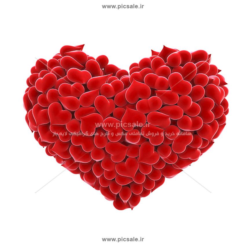 00884 - قلب قرمز عاشقانه