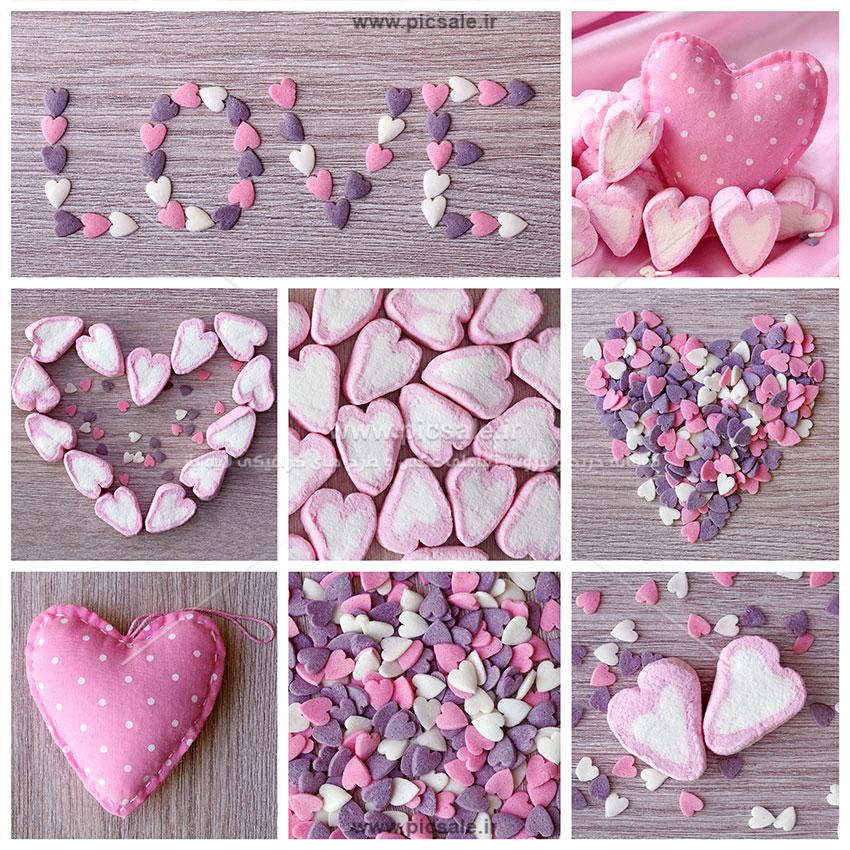 00898 - قلب های نمدی عاشقانه