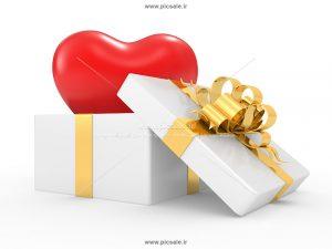 00900 300x225 - قلب داخل جعبه سفید زیبا