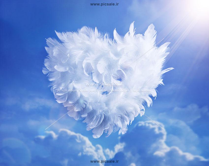 00918 - قلب پَری عاشقانه در آسمان