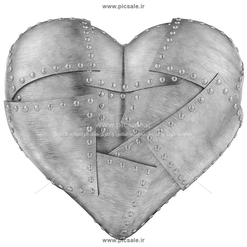 00927 - قلب زرهی عاشقانه