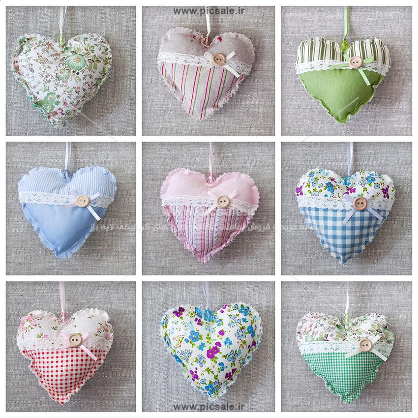 00995 - قلب های پارچه ای عاشقانه