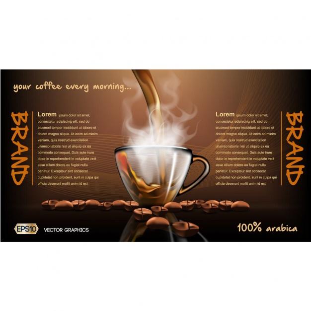 0475s - لایه باز پوستر، بروشور و کاتالوگ / قهوه