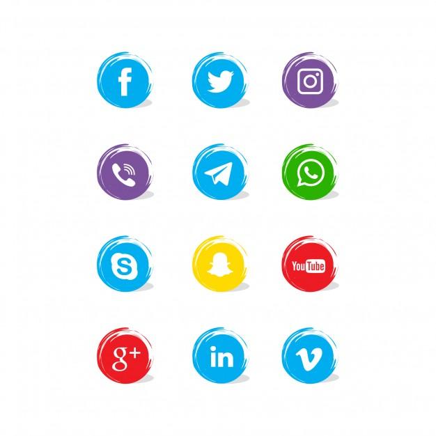 0499s - لایه باز آیکون های شبکه اجتماعی