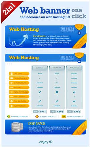 0535s - لایه باز لیست قیمت وب هاستینگ / وب بنر
