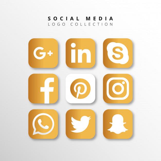 0543s - لایه باز آیکون های شبکه اجتماعی