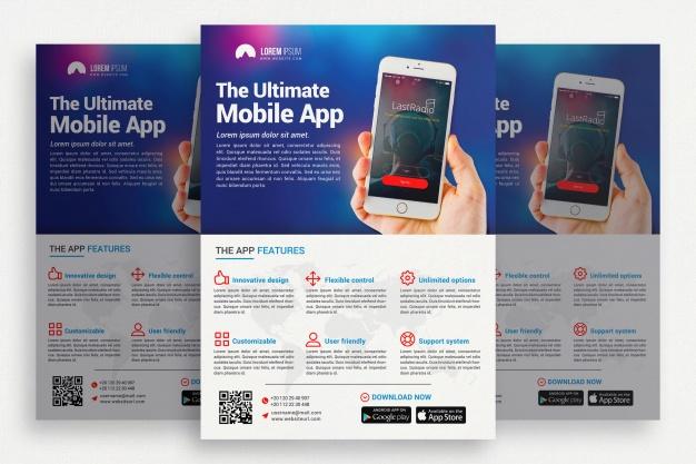0571s - لایه باز بروشور و کاتالوگ تجاری / موبایل