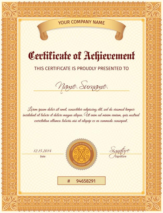 0750s - دانلود لایه باز قالب گواهینامه