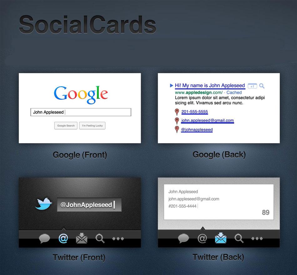 p127 - لایه باز کارت ویزیت گوگلی و تویتری