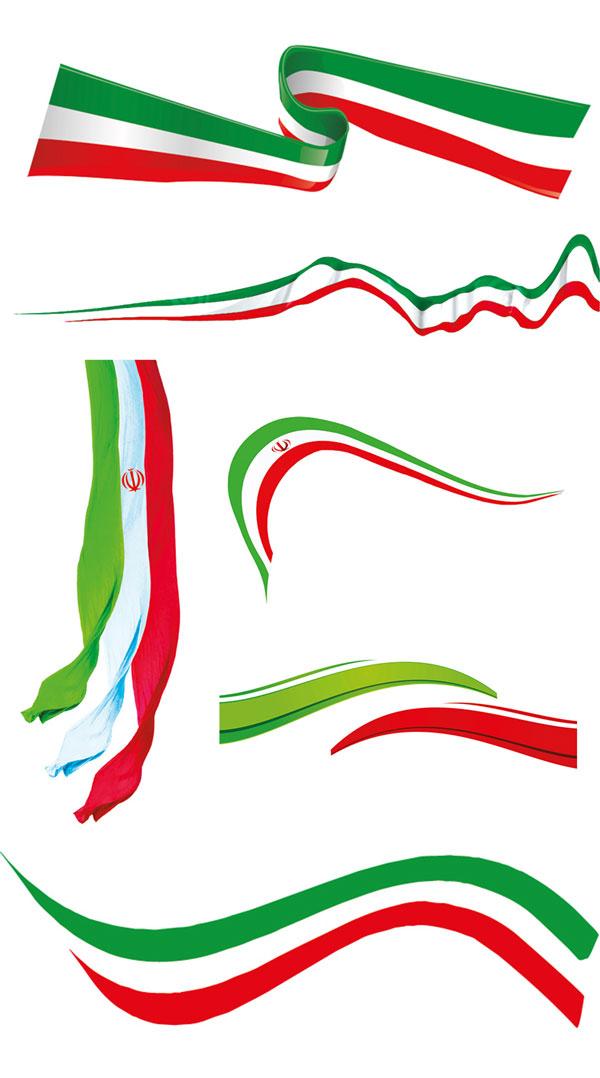 p50 - لایه باز پرچم ایران با کیفیت بالا پوستری