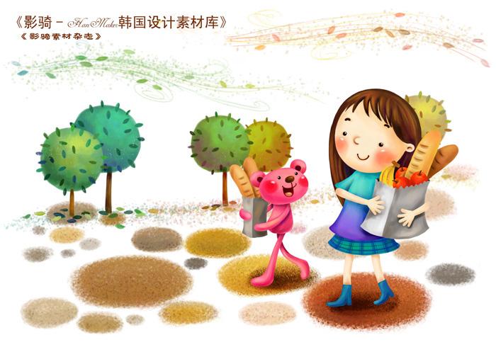 0901s - دانلود لایه باز تصویرسازی دختر بچه با پاکت