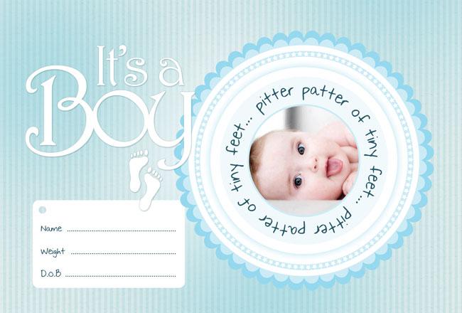 01047s - دانلود لایه باز کارت تولد نوزاد پسر
