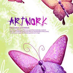 p156 280x280 - لایه باز پوستر پروانه اسلیمی بسیار زیبا و شاد