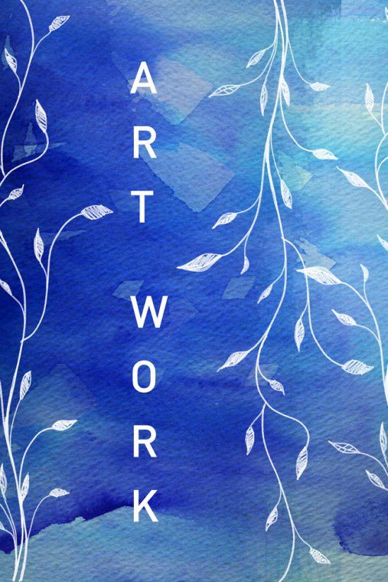 p161 548x822 - لایه باز نقاشی هنری پیچک آبی زیبا