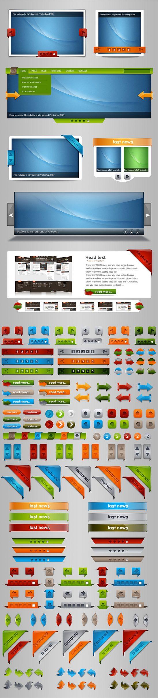 p176 548x2412 - لایه باز اسلاید شوی عکس گالری وب اپلیکیشن با دکمه های گرافیکی