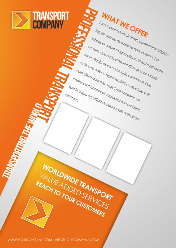 p197 - لایه باز کاتالوگ تجاری تراکت نارنجی معرفی محصول