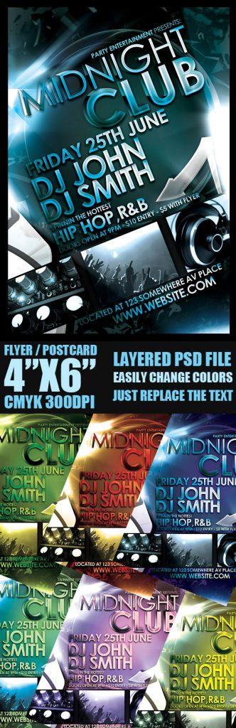 p205 332x1024 - لایه باز رایگان پوستر کلوپ شبانه پارتی موسیقی دی جی