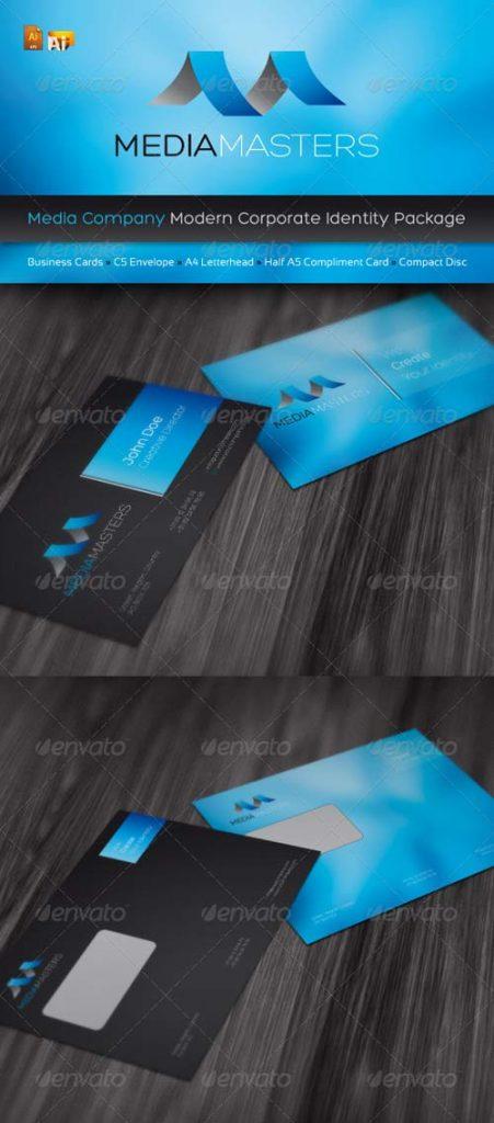 p213 451x1024 - لایه باز رایگان کارت ویزیت مدرن خلاقانه آبی (eps)