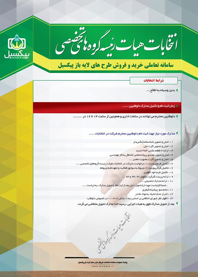 p263 - لایه باز پوستر انتخابات شوراها ، مجلس، نظام مهندسی، صنوف