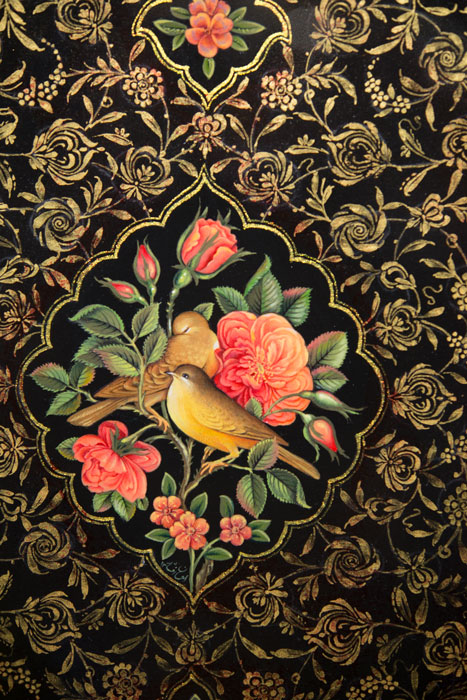 p290s - تصویر با کیفیت گل و مرغ اسلیمی سنتی
