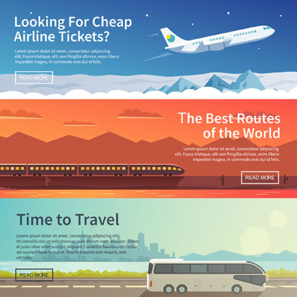 01166s - لایه باز بنر تبلیغاتی / حمل و نقل مسافرتی