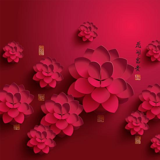 01199s - لایه باز وکتور گلهای بهاری زیبا