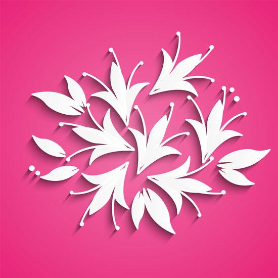 01200s - لایه باز وکتور گلهای بهاری زیبا