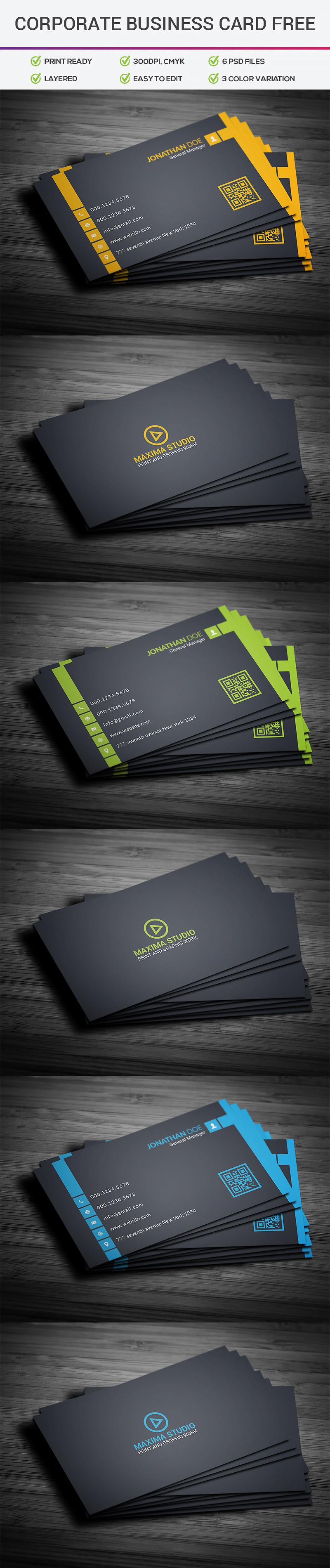 p320 - لایه باز کارت ویزیت تجاری اداری ساده و شیک