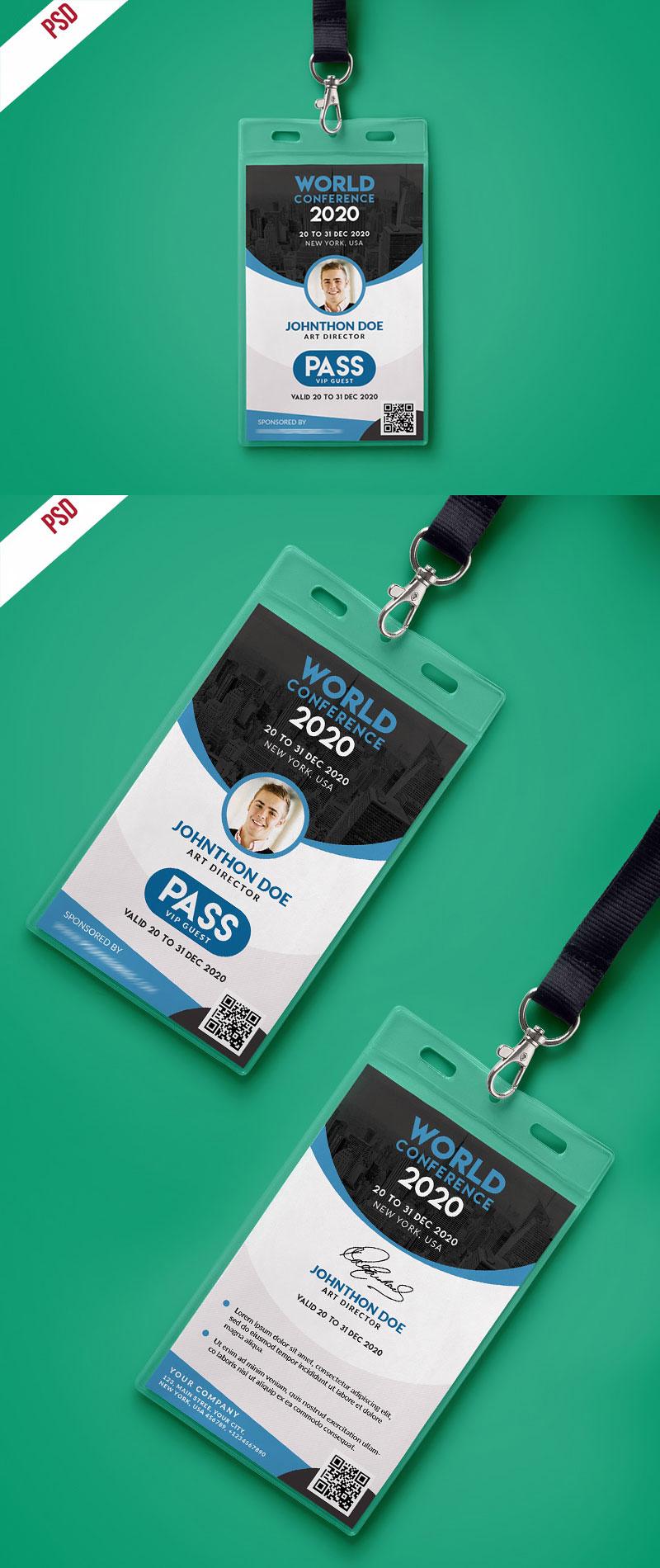 p330 - لایه باز کارت آویز گردن شناسایی همایش و رویداد / کارت شناسایی همایش