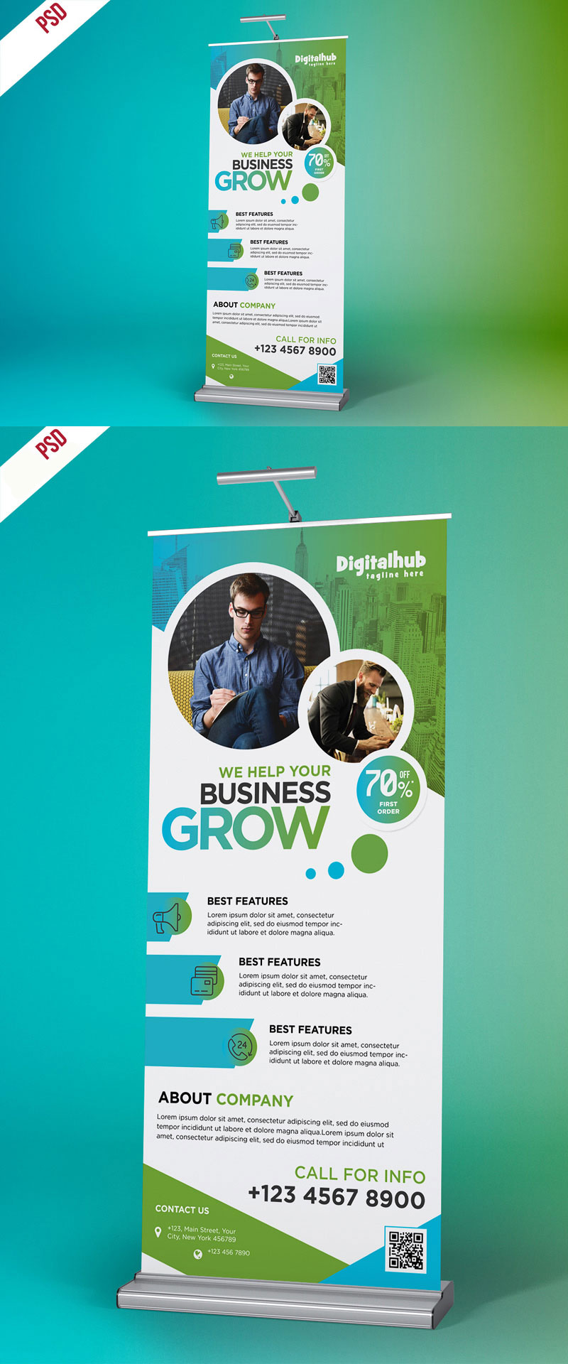 p336 - لایه باز استند تبلیغاتی معرفی محصولات شرکت و خدمات تجاری