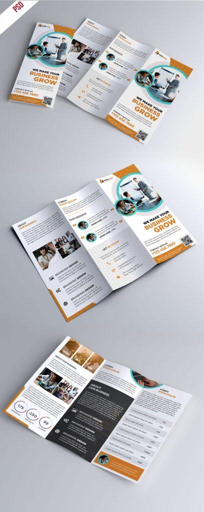 p354 1 409x1024 - لایه باز بروشور تجاری آموزشی بسیار زیبا