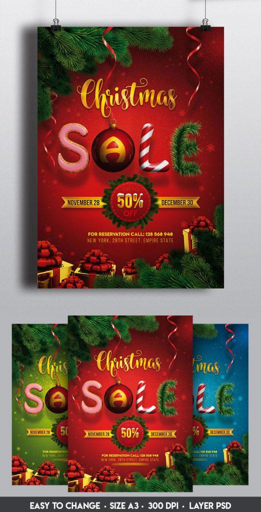 p364 522x1024 - لایه باز پوستر جشنواره فروش زمستانی کریسمس