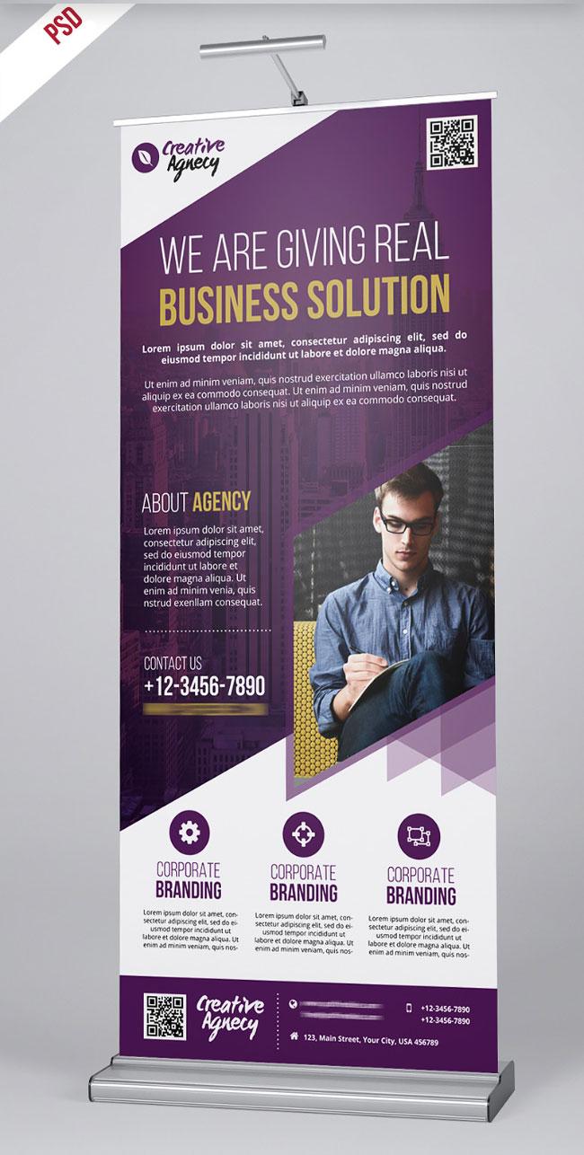 p373 - لایه باز استند تبلیغاتی شرکتی ویژه معرفی خدمات تجاری