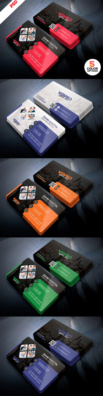 p375 - لایه باز کارت ویزیت فوق العاده شرکتی، تجاری و خدماتی