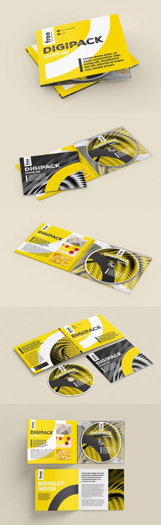 p429 - مگاپک موکاپ کاور سی دی یا دی وی دی با قاب و جلد DVD & CD