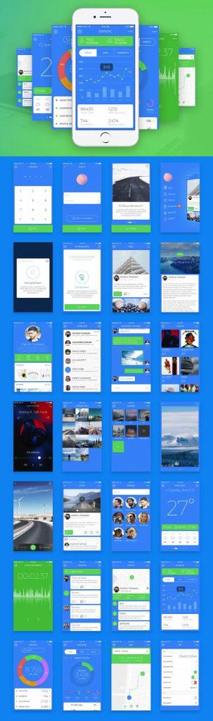 p431 303x1024 - لایه باز وب اپلیکیشن طراحی UI نرم افزار اندورید و ios با بیش از 20 صفحه متنوع