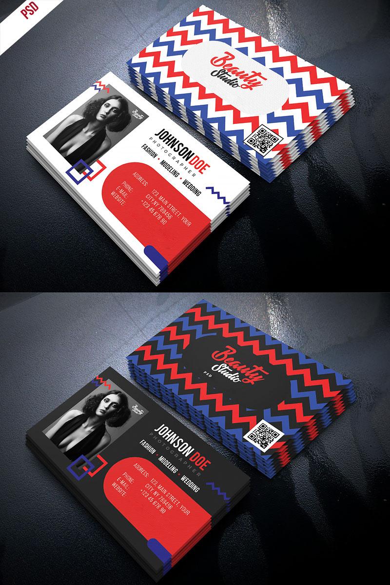 p447 - لایه باز کارت ویزیت خلاقانه با رنگ بندی متفاوت و طرح شکسته