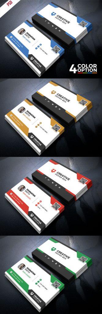 p458 1 333x1024 - لایه باز کارت ویزیت مدرن بسیار زیبا و خلاقانه زمینه مشکی و سفید با امکان درج کیوآرکد QR Code