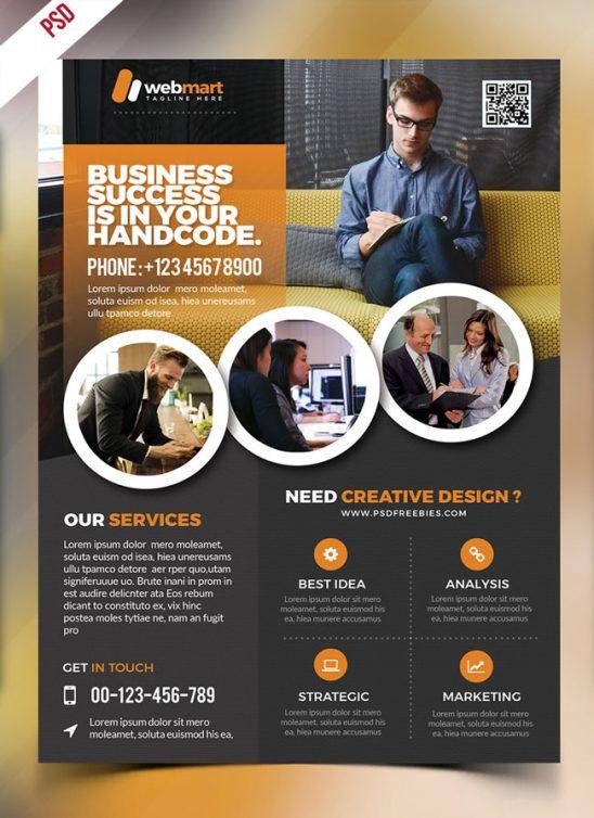 p460 548x754 - لایه باز پوستر معرفی خدمات آموزشی و دوره های تحصیلی، ویژه مراکز آموزشی