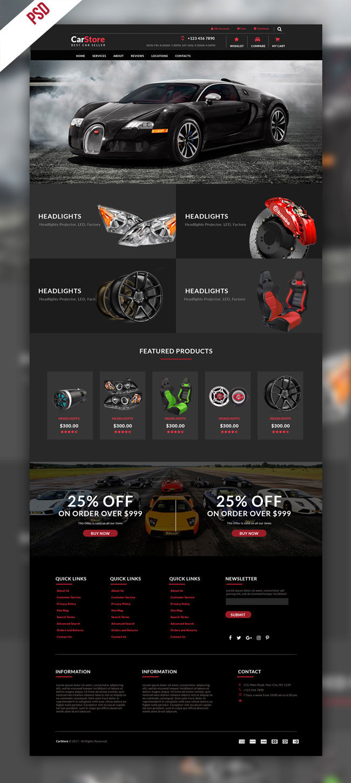 p477 - طرح آماده سایت نمایشگاه اتومبیل و خدمات جانبی خودرو ویژه شرکت تجاری بازرگانی قطعات یدکی ماشین سواری