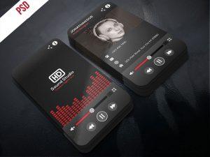 p480 300x225 - لایه باز کارت ویزیت استدیو ظبط صدا و موسیقی و آهنگ قرمز و مشکی بسیار زیبا بصورت ایستاده (عمودی)