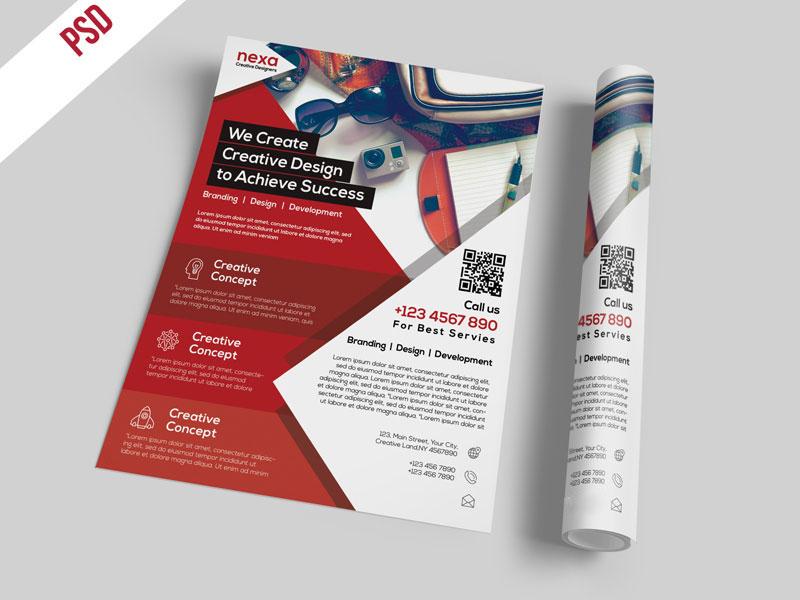 p485 - طرح آماده کاتالوگ شرکتی و تراکت معرفی خدمات تبلیغاتی مجموعه های تجاری و اقتصادی
