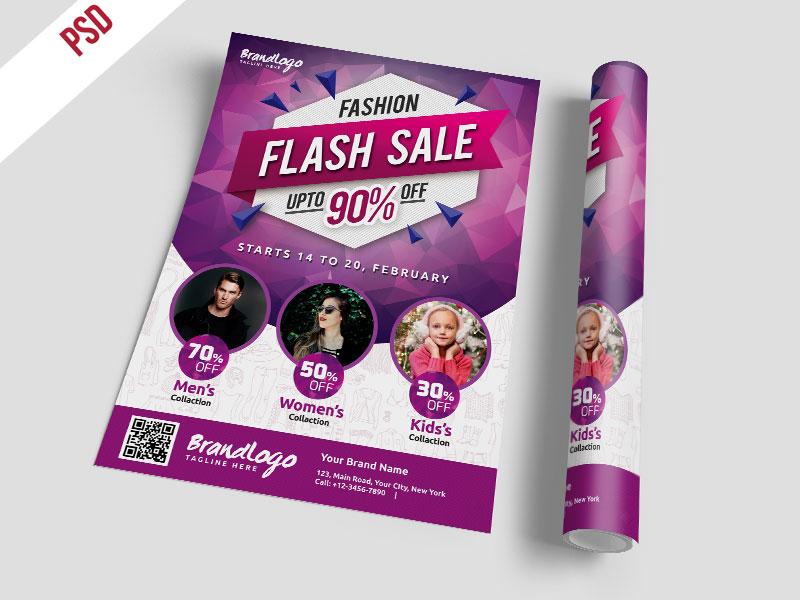 p496 - لایه باز پوستر جشنواره فروش فشن آقایان بانوان و بچه ها با درصد تخفیف های ویژه بوتیک و فروشگاه های لباس