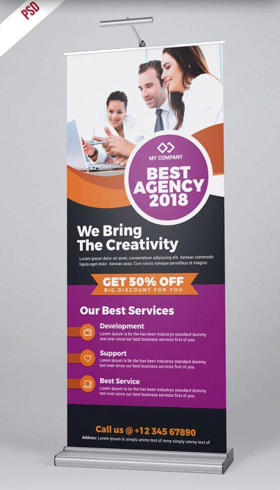 p498 548x959 - لایه باز استند بنر آژانس تبلیغاتی، خدمات و محصولات مجموعه های تجاری، اقتصادی و آموزشی