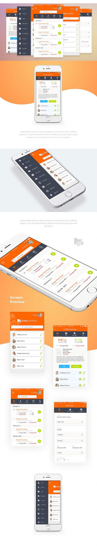p504 548x3063 - گرافیک اینترفیس اپلیکیشن (تعاملی - شبکه اجتماعی) موبایل UX و UI اندورید و ios با آیکون های کاربردی و متنوع