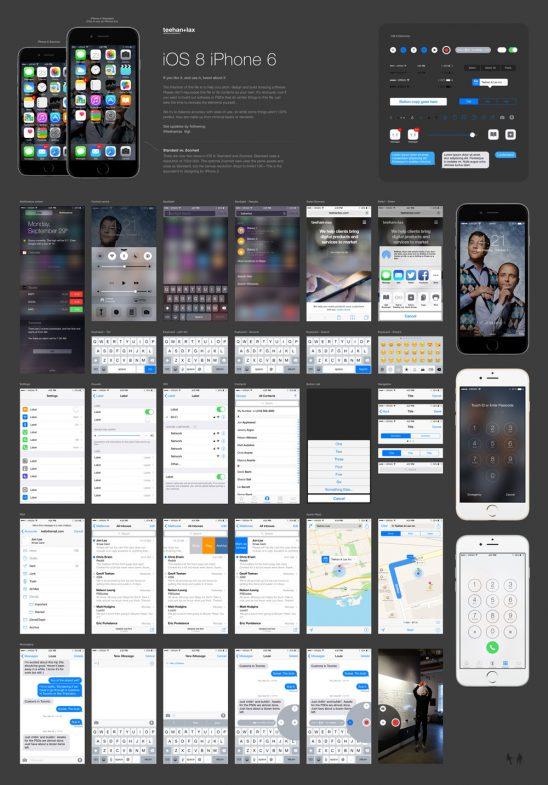 p531 548x785 - گرافیک اینترفیس آیفون 6 iPhone و ios 8 با همه اجزای کامل رابط کاربری گرافیکی / اینترفیس UX و UI موبایل اندورید و ios با صفحات کاربردی و متنوع