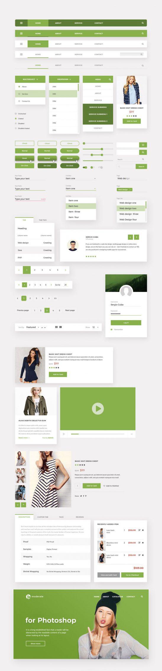 p536 548x2260 - طرح آماده گرافیک اپلیکیشن فروشگاهی بصورت لایه باز به رنگ سبز / اینترفیس UX و UI موبایل اندورید و ios با صفحات کاربردی و متنوع