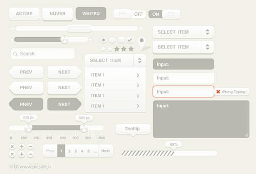 p562 - دانلود رایگان المان های گرافیکی وب اپلیکیشن و تنظیمات اسلایدشو گالری